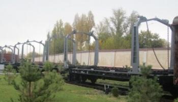 Переоборудование платформы в портал для транспортирования верхнего строения пути