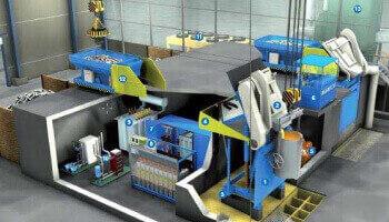 Среднечастотная индукционная тигельная печь системы «Monomelt» (Otto Junker)
